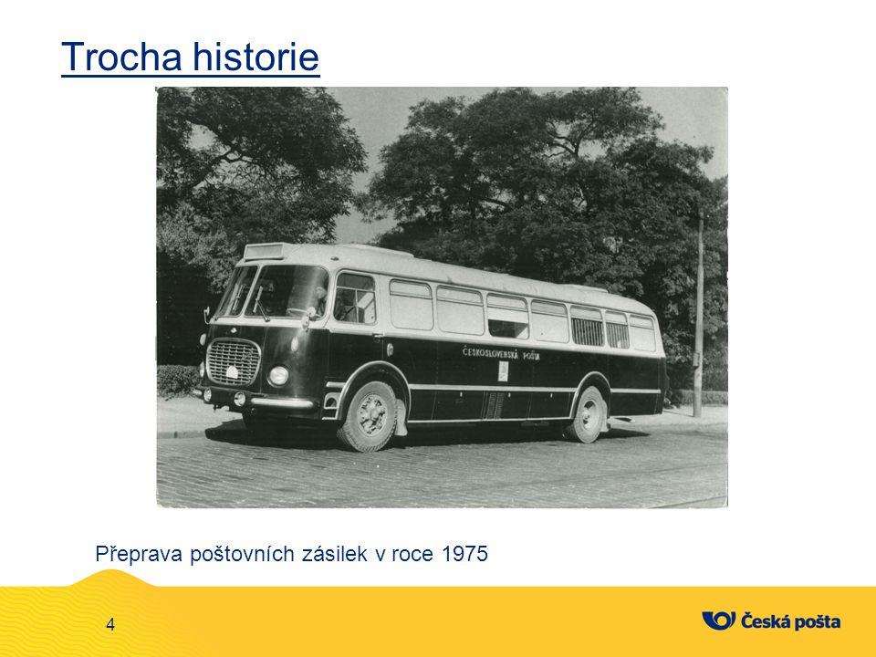 Trocha historie 4 Přeprava poštovních zásilek v roce 1975
