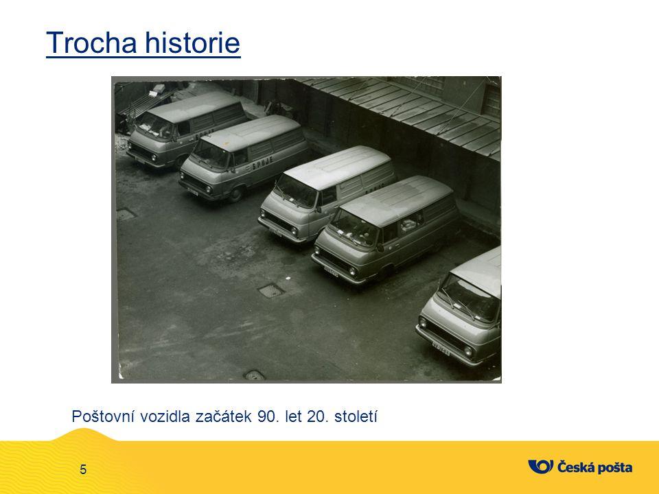 Trocha historie 5 Poštovní vozidla začátek 90. let 20. století