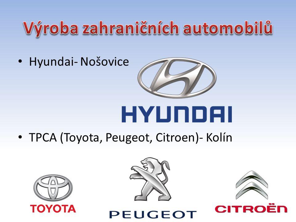 Hyundai- Nošovice TPCA (Toyota, Peugeot, Citroen)- Kolín