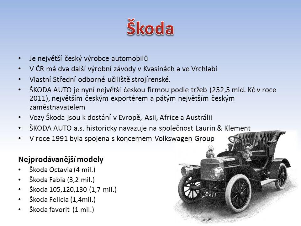Je největší český výrobce automobilů V ČR má dva další výrobní závody v Kvasinách a ve Vrchlabí Vlastní Střední odborné učiliště strojírenské.