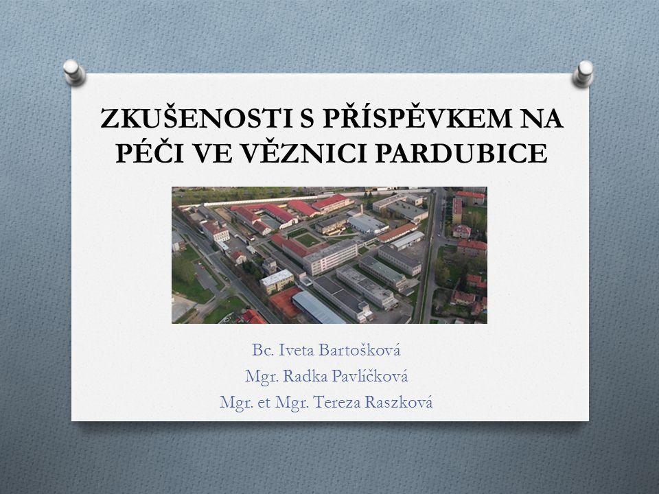 ZKUŠENOSTI S PŘÍSPĚVKEM NA PÉČI VE VĚZNICI PARDUBICE Bc.
