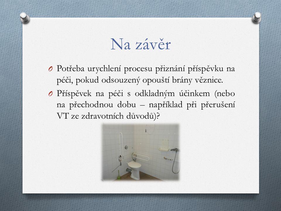 Na závěr O Potřeba urychlení procesu přiznání příspěvku na péči, pokud odsouzený opouští brány věznice.