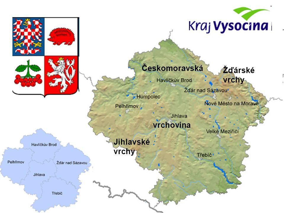 Českomoravská vrchovina Jihlavské vrchy Žďárské vrchy