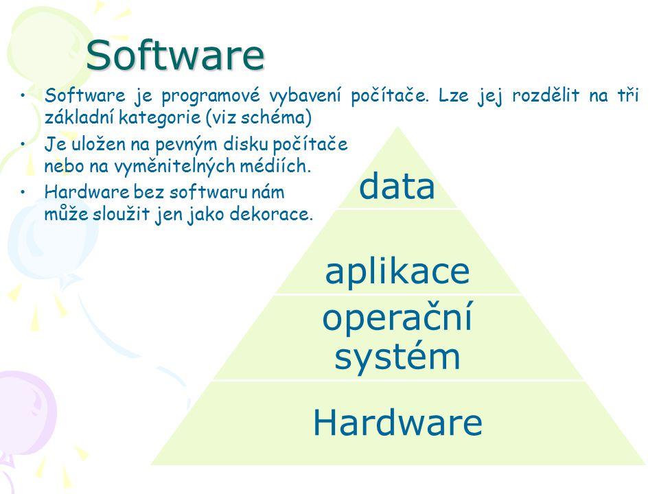 Software Software je programové vybavení počítače.