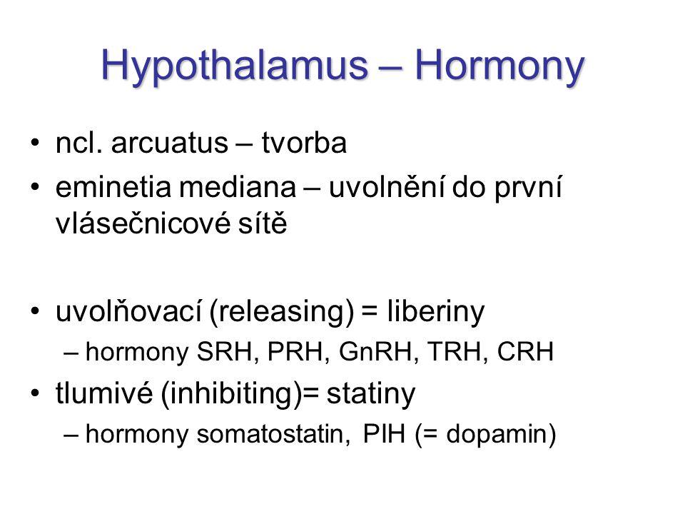 Hypothalamus – Hormony ncl.