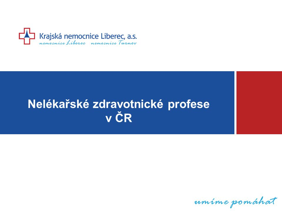 Nelékařské zdravotnické profese v ČR