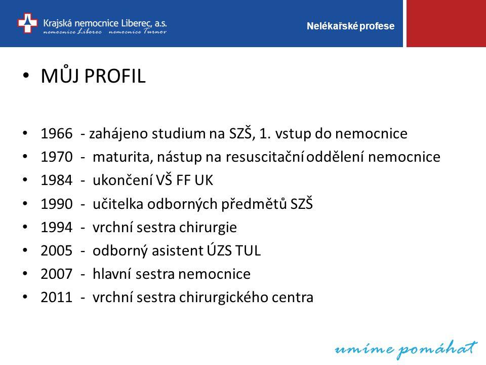 Nelékařské profese MŮJ PROFIL 1966 - zahájeno studium na SZŠ, 1.