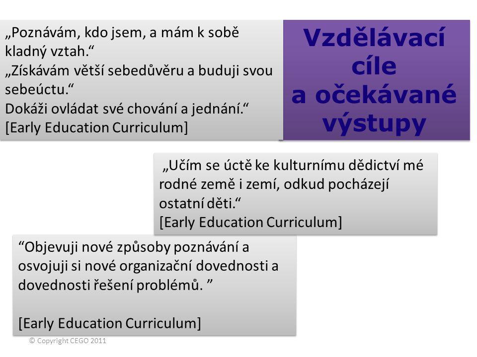  Vzdělávací cíle a očekávané výstupy Vzdělávací cíle a očekávané výstupy Objevuji nové způsoby poznávání a osvojuji si nové organizační dovednosti a dovednosti řešení problémů.