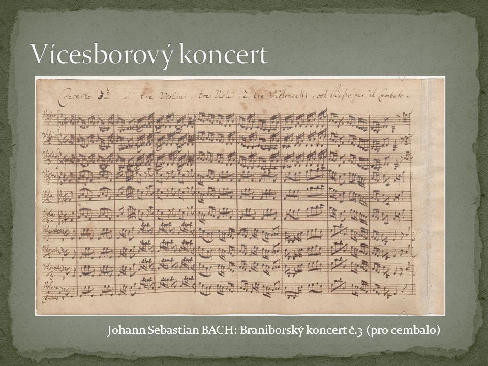 první, kdo použil rozdělení orchestru na concertino a ripieno, byl patrně Alessandro STRADELLA (po r.