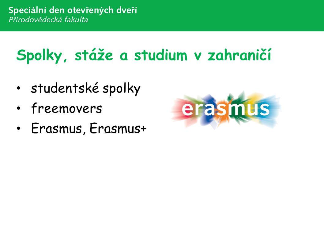 Spolky, stáže a studium v zahraničí studentské spolky freemovers Erasmus, Erasmus+