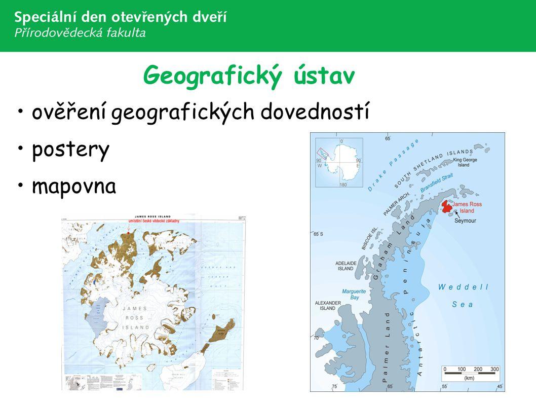 Geografický ústav ověření geografických dovedností postery mapovna