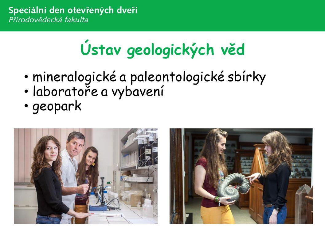 Ústav geologických věd mineralogické a paleontologické sbírky laboratoře a vybavení geopark