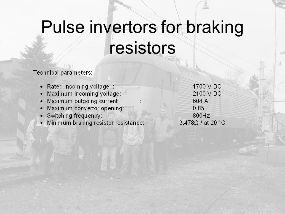 Pulse invertors for braking resistors