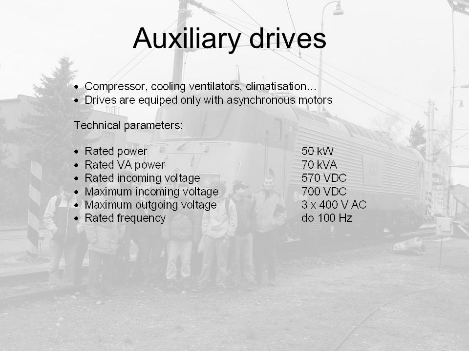 Auxiliary drives