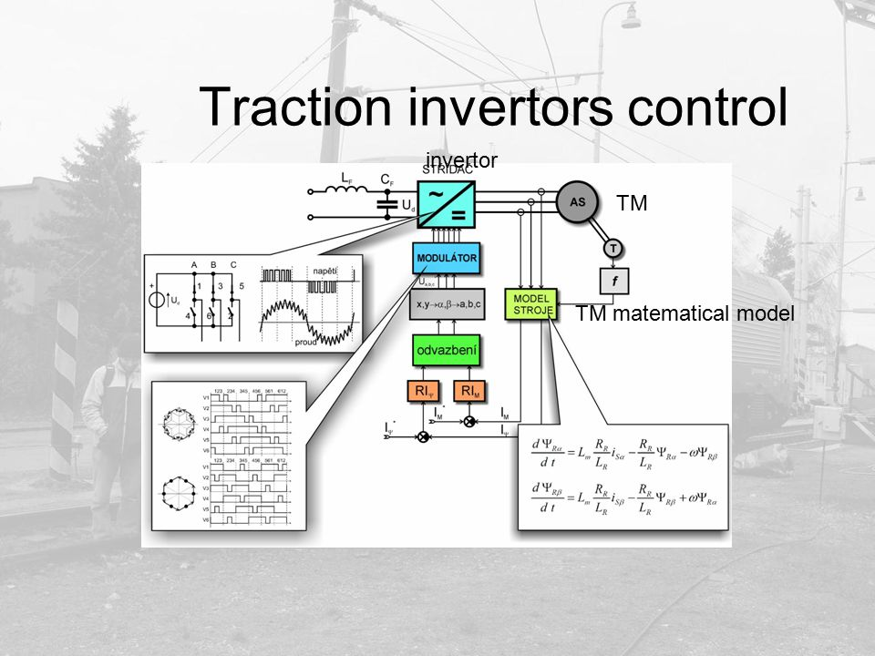 Traction invertors control TM matematical model invertor TM