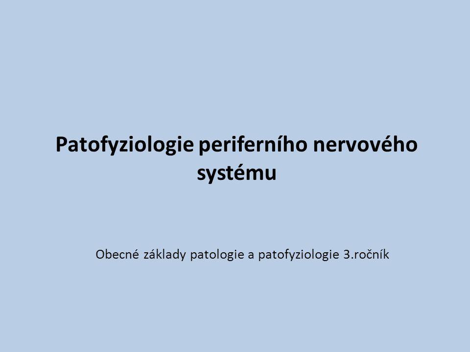 Patofyziologie periferního nervového systému Obecné základy patologie a patofyziologie 3.ročník