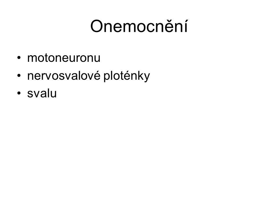 Onemocnění motoneuronu nervosvalové ploténky svalu