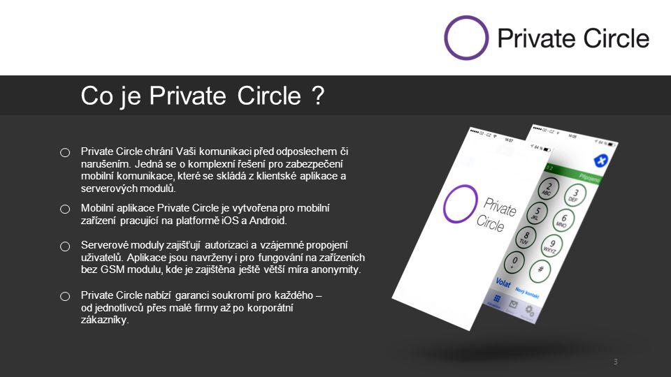 3 Private Circle chrání Vaši komunikaci před odposlechem či narušením.