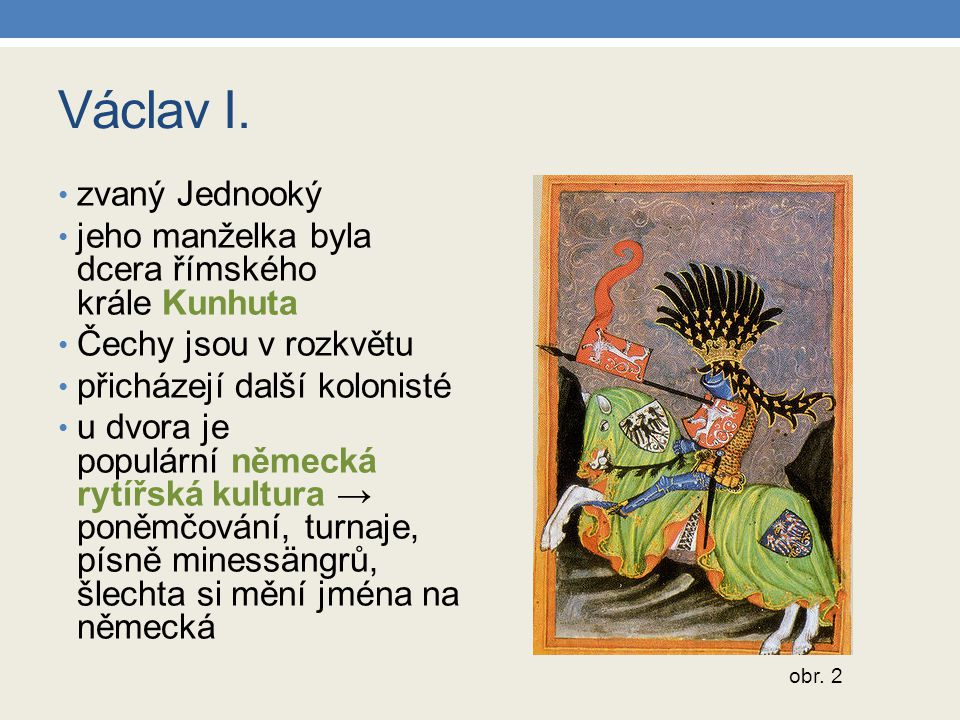 Zápis do sešitu Václav III.