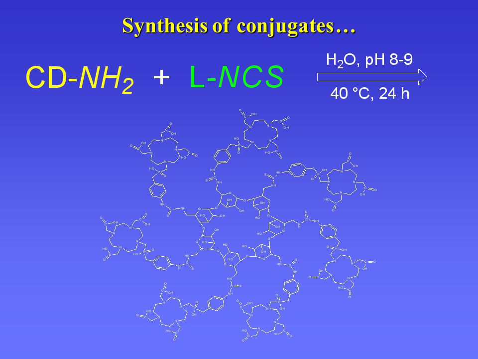 Synthesis of conjugates… Synthesis of conjugates …