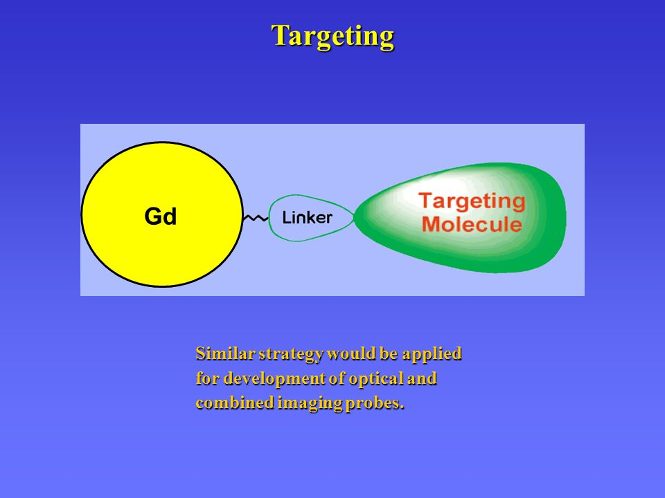 Targeting Similar strategy would be applied for development of optical and combined imaging probes. Gd