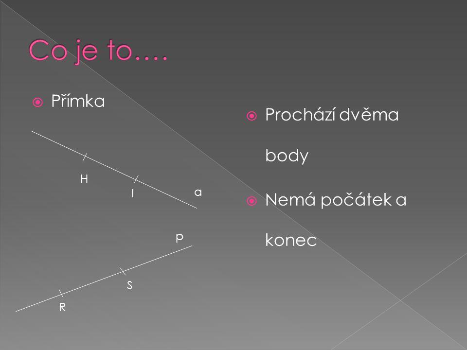  Úsečka  Spojnice dvou bodů  Můžeme změřit její délku A B