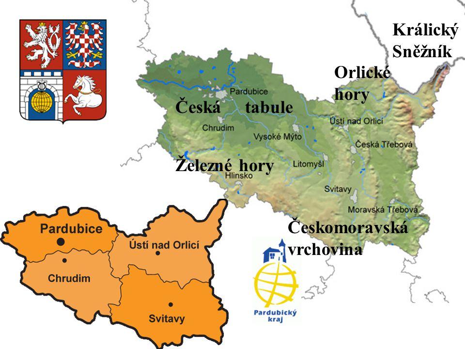 Orlické hory Králický Sněžník Železné hory Českomoravská vrchovina Česká tabule