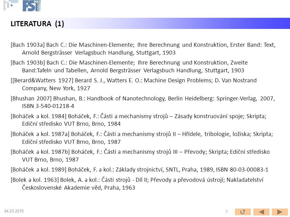 [Bach 1903a] Bach C.: Die Maschinen-Elemente; Ihre Berechnung und Konstruktion, Erster Band: Text, Arnold Bergsträsser Verlagsbuch Handlung, Stuttgart