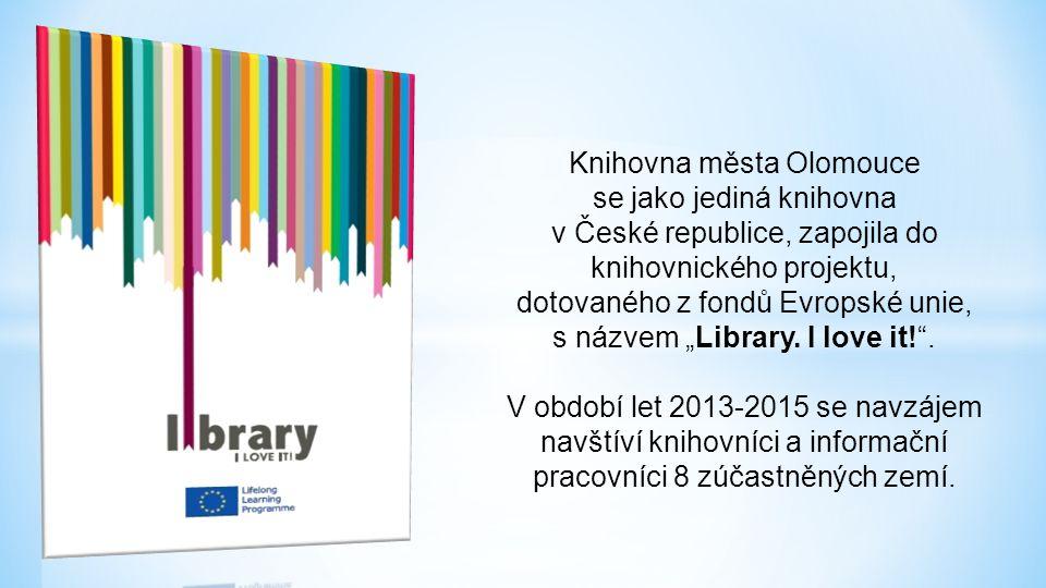 """Knihovna města Olomouce se jako jediná knihovna v České republice, zapojila do knihovnického projektu, dotovaného z fondů Evropské unie, s názvem """"Library."""
