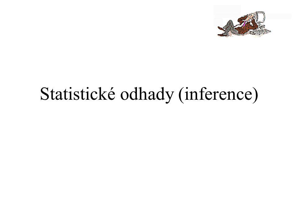 Statistické odhady (inference)