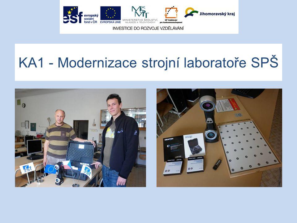 KA1 - Modernizace strojní laboratoře SPŠ
