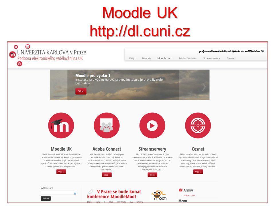 Moodle UK http://dl.cuni.cz