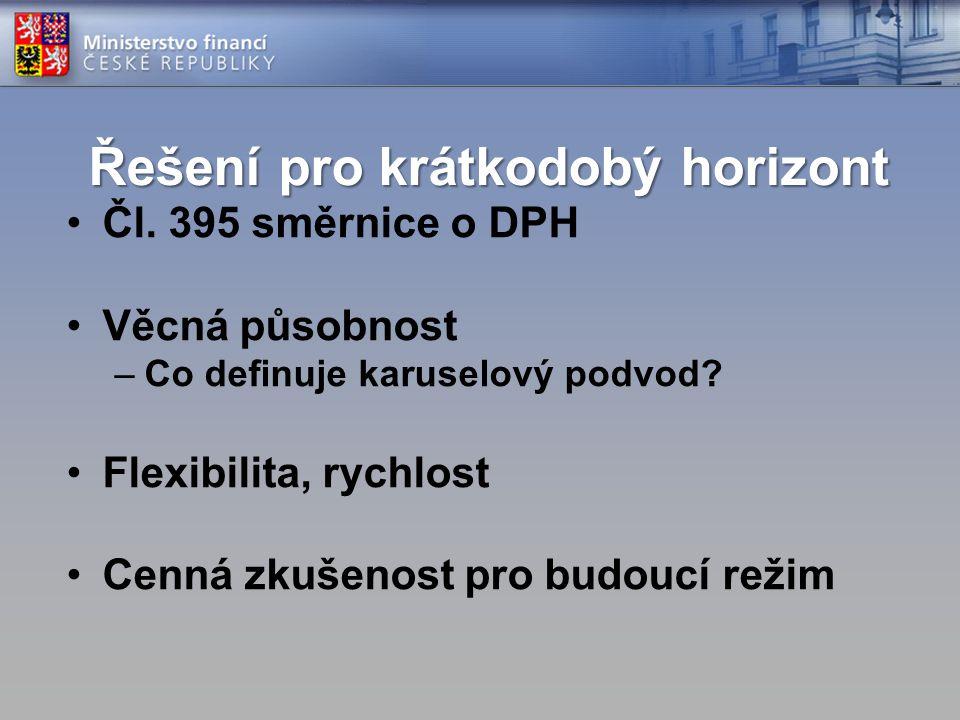 Řešení pro krátkodobý horizont Čl.