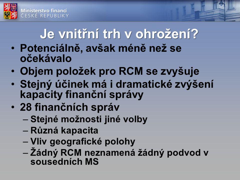 Jaký druh RCM? Sektorový vs plošný Definice sektoru Regionální spolupráce Povinný vs volitelný