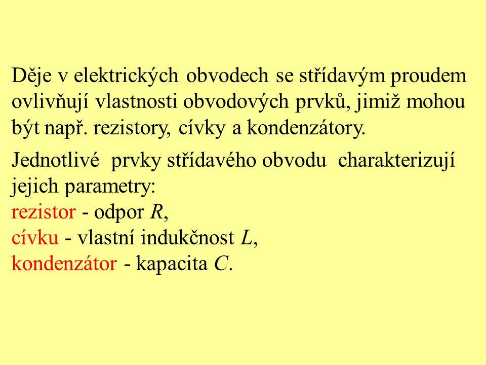 Děje v elektrických obvodech se střídavým proudem ovlivňují vlastnosti obvodových prvků, jimiž mohou být např. rezistory, cívky a kondenzátory. Jednot