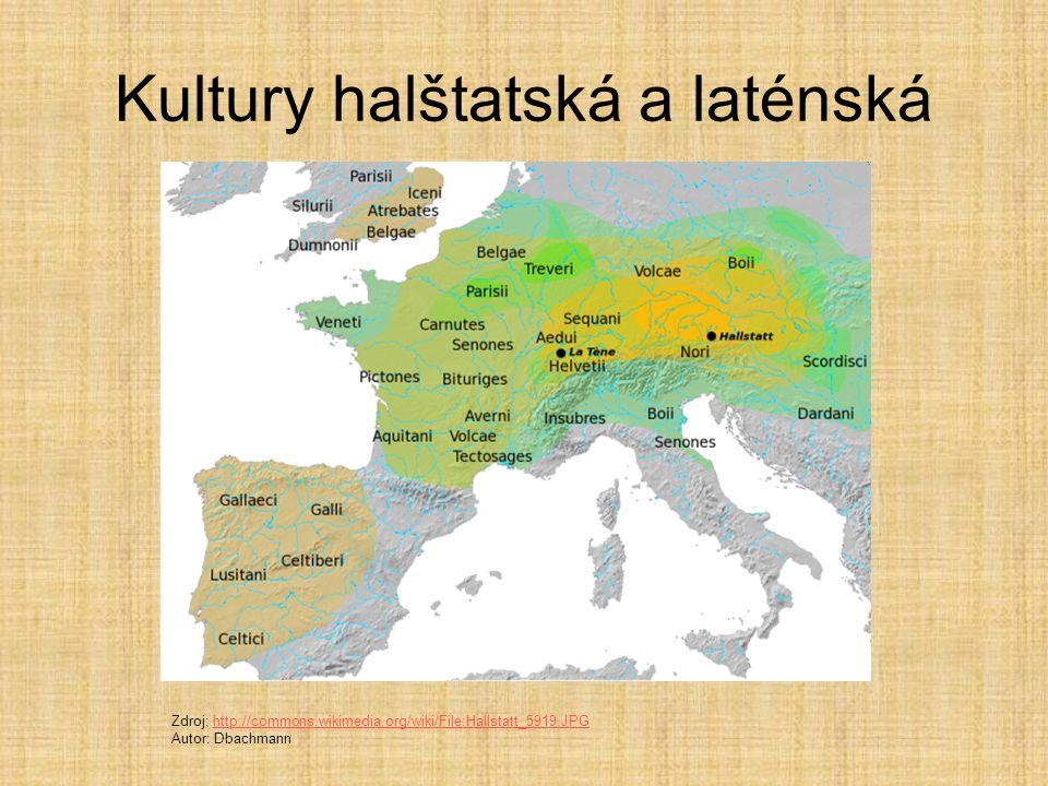 Doba železná 2 období  halštatská kultura (700-500 p.K.) - podle města Hallstatt (Rakousko) laténská kultura (500- 0) - podle města La Téne (Švýcarsk