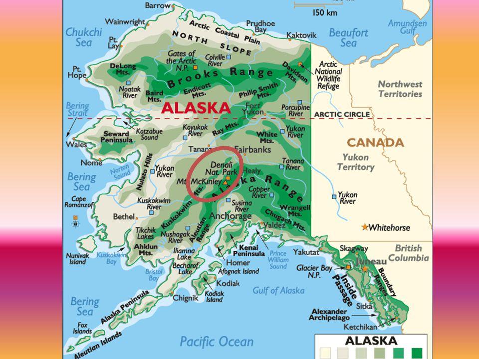Národní park Denali National Park je svou rozlohou 24.406 km2 největším parkem Aljašky.