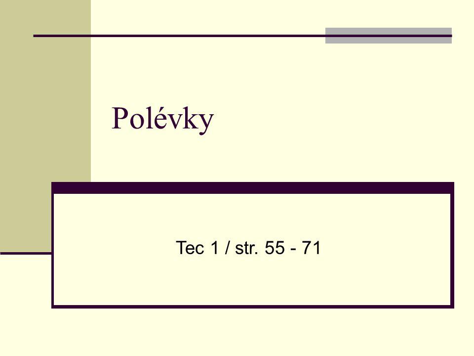 Polévky Tec 1 / str. 55 - 71