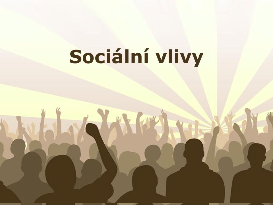 Free Powerpoint Templates Page 1 Free Powerpoint Templates Sociální vlivy