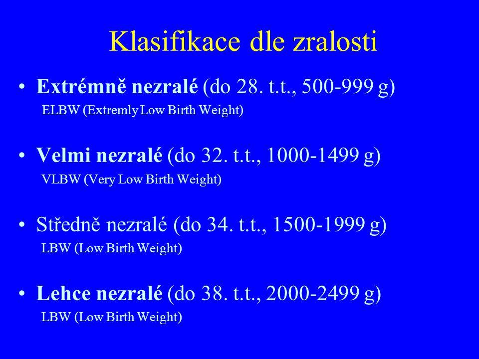 Hypotrofický novorozenec Narozený v termínu Porodní hmotnost neodpovídá délce těhotenství