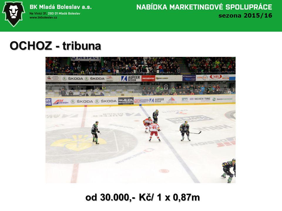 OCHOZ - tribuna od 30.000,- Kč/ 1 x 0,87m