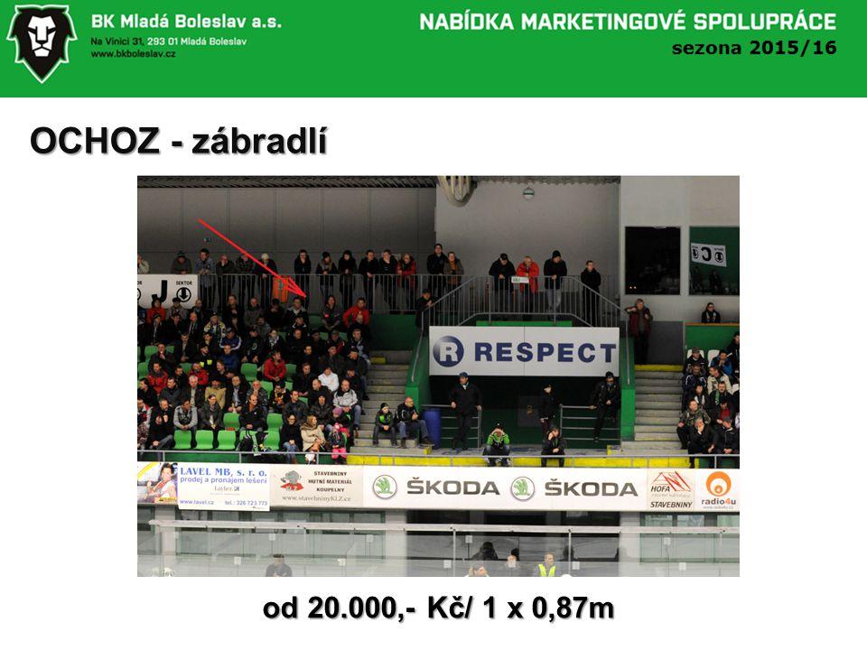 OCHOZ - zábradlí od 20.000,- Kč/ 1 x 0,87m