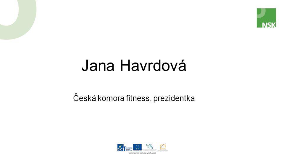 Jana Havrdová Česká komora fitness, prezidentka