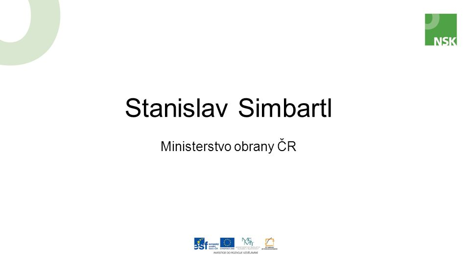 Stanislav Simbartl Ministerstvo obrany ČR