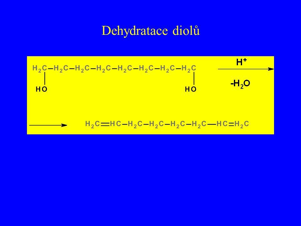 Dehydratace diolů