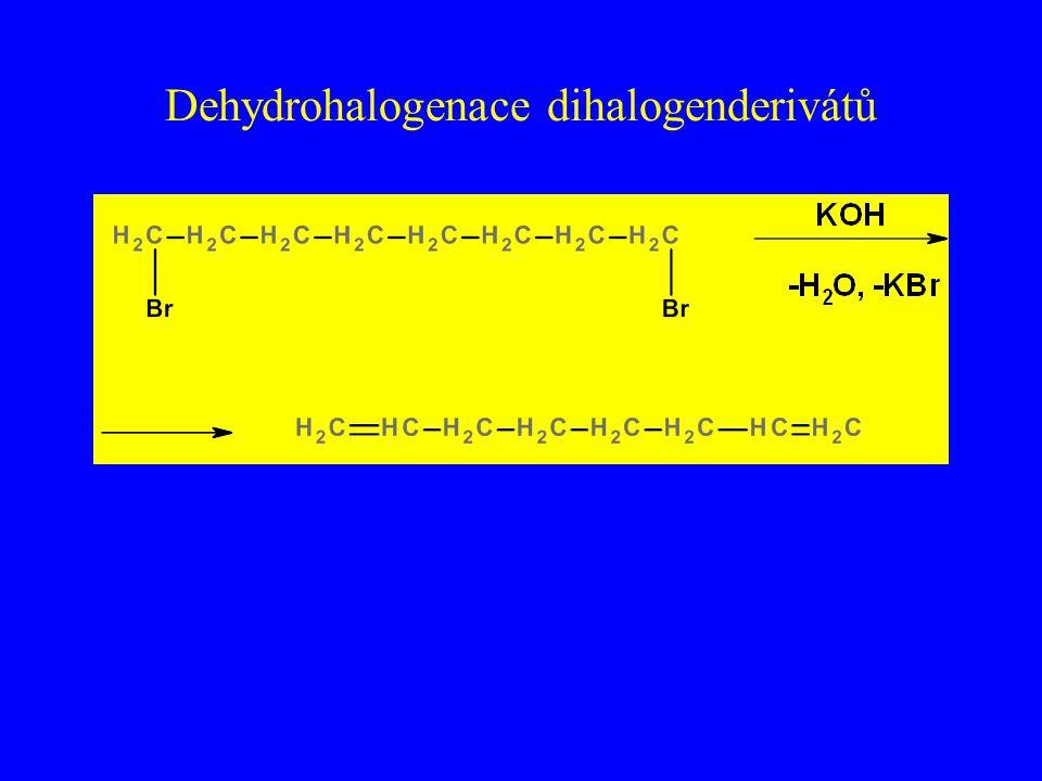 Dehydrohalogenace dihalogenderivátů