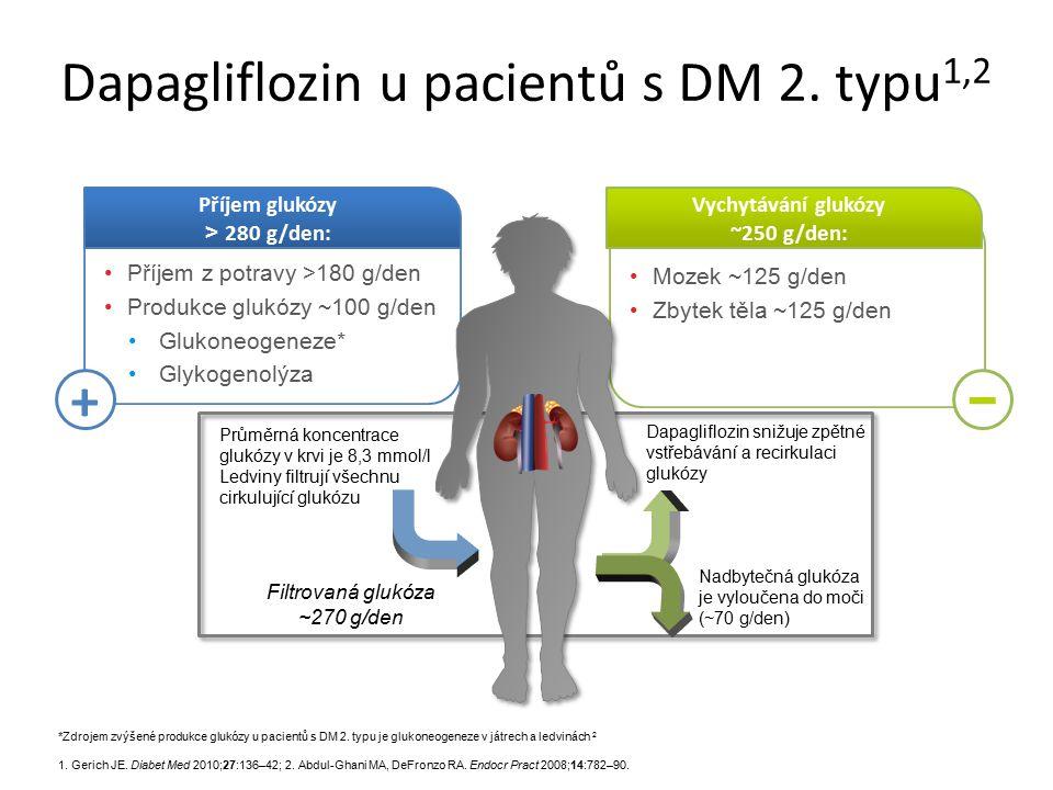 Mozek ~125 g/den Zbytek těla ~125 g/den Vychytávání glukózy ~250 g/den: Příjem z potravy >180 g/den Produkce glukózy ~100 g/den Glukoneogeneze* Glykog
