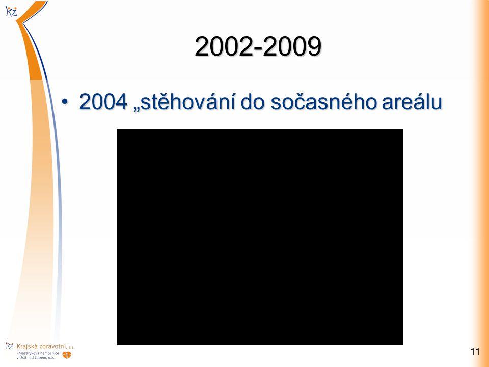"""2002-2009 2004 """"stěhování do sočasného areálu2004 """"stěhování do sočasného areálu 11"""