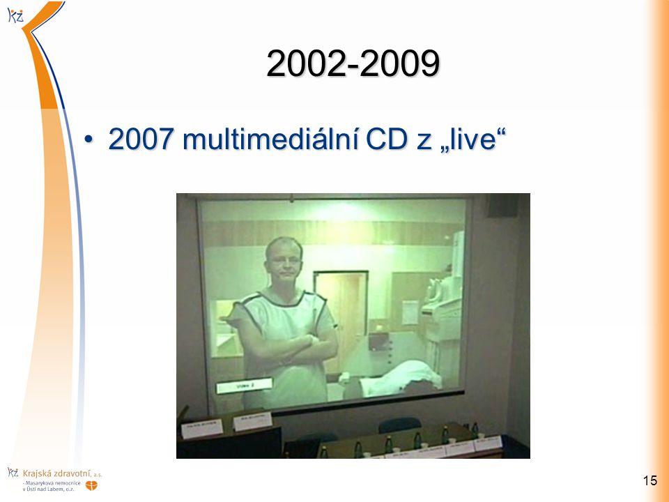 "2002-2009 15 2007 multimediální CD z ""live""2007 multimediální CD z ""live"""