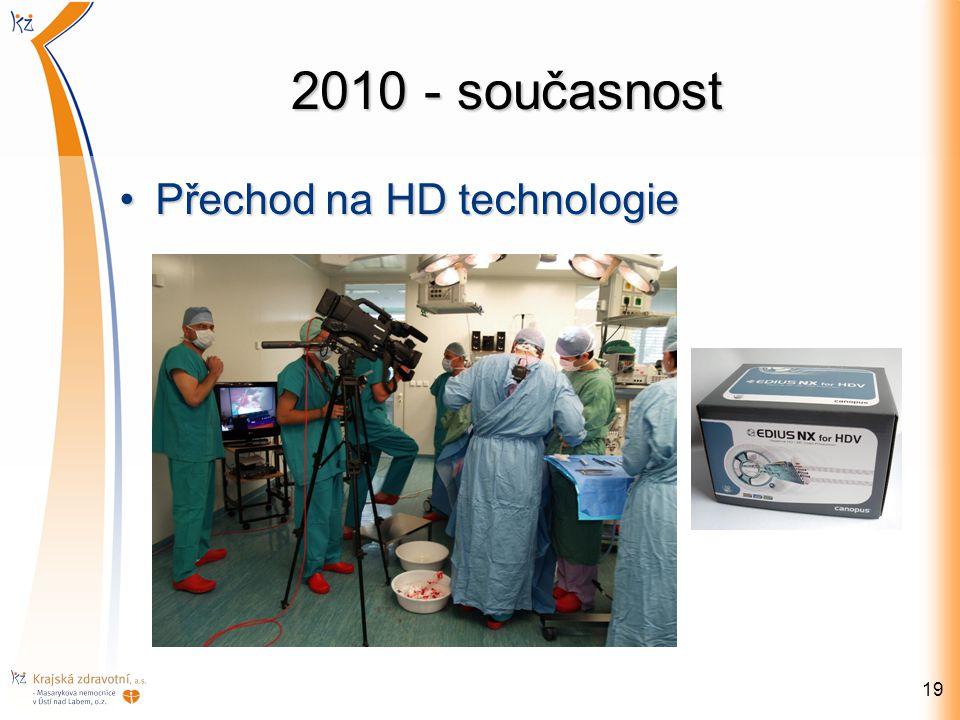 2010 - současnost Přechod na HD technologiePřechod na HD technologie 19